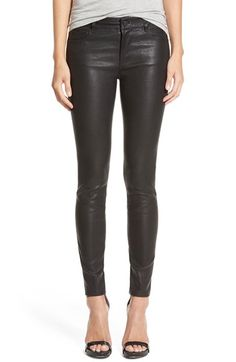 Paige+Denim+'Verdugo'+Leather+Pants+available+at+#Nordstrom