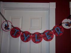 Spiderman, Happy Birthday Banner.