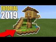 Minecraft Tutorial: How To Make A Easy Starter Wooden Treehouse 2019 Minecraft Starter House, Minecraft Houses Survival, Easy Minecraft Houses, Minecraft House Tutorials, Minecraft Houses Blueprints, Minecraft Plans, Minecraft House Designs, Minecraft Tutorial, Amazing Minecraft