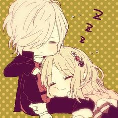 anime art boy cute diabolik lovers girl kawaii love manga nice sleep subaru yui