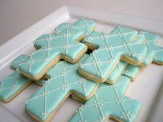 Cross First Communion cookies