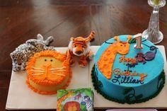 Birthday Cake, 1st birthday party, animal theme