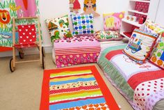 Jane Foster Blog: Another quilt finished - 70s retro fabric