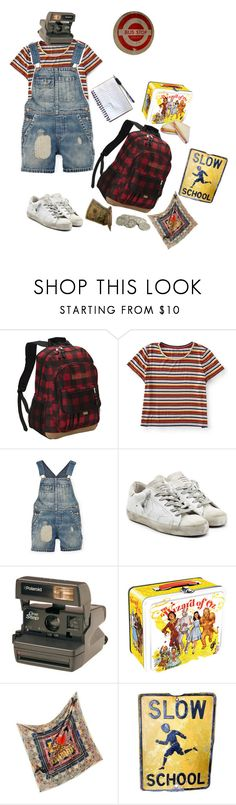 """Untitled #184"" by del-the-grim ❤ liked on Polyvore featuring Eastsport, Aéropostale, Golden Goose, Polaroid and Christian Lacroix"