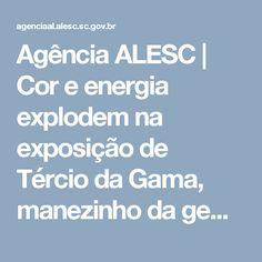 Agência ALESC | Cor e energia explodem na exposição de Tércio da Gama, manezinho da gema e do coração