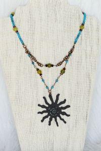 Hammi Jammi Jewelry Rusted Iron Fetish Sun Necklace   www.downdogboutique.com