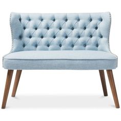 Scarlett 2-Seater Loveseat Settee, Quick Ship ($379) ❤ liked on Polyvore featuring home, furniture, sofas, light brow, 2 seater sofa, two seater couch, ship furniture, 2 seater couch and two seater sofa