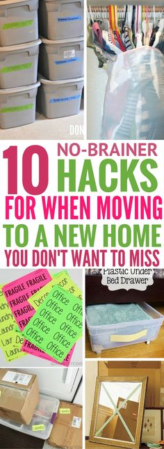 Seriously the most USEFUL moving and packing tips that I've read! Find great packing hacks that are easy to do and does the job well!