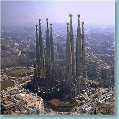 The cranes have been photoshopped out.  Barcelona, Spain