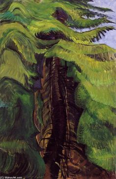 Trees Love To Toss And Sway; They Make Such Happy Noises by Emily Carr (1871-1945, Canada)