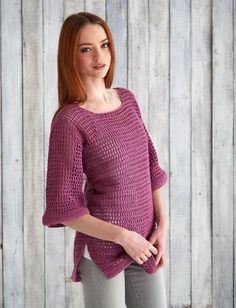 Yarnspirations.com - Bernat Mesh Top - Free Pattern - crochet - easy   | Yarnspirations