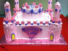 Princess Castle Cake, perfect for your little girl's Birthday celebration. Created by Ye Olde Pie Shoppe, call us 732-530-3337