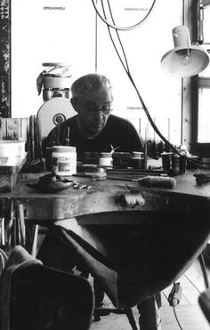 Herman Junger at his bench #jewelrymaking