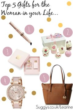 Top 5 BEST Ever Christmas Gift List, for the Woman in your Life... includes luxuries like Michael Kors, Lush Bathbomb, Valentino Perfume!!!