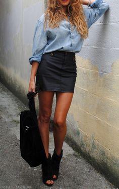 edffab0614 Denim shirt black good condition very nice Size 2 quality denim skirt  Dresses