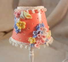 miniature shabby chic lamp