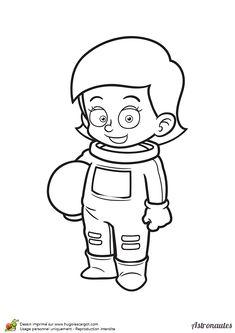 1000 images about coloriages cosmonautes et extraterrestres on pinterest science fiction - Dessin d astronaute ...