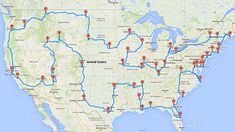 "When you have 2-3 months to spare, a Michigan State University student developed an optimal route to drive all across the US and hit 50 major landmarks in the 48 contiguous states (two in California and one in D.C.).  sauce: <a rel=""nofollow"" target=""_blank"" ..."