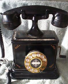 Vintage Telephone. 1920's Highboy Telephone. Bakelite Telephone. Phoneco Inc Refurbished 1920's Highboy Telephone.. $125.00, via Etsy.