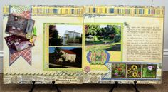 Check out this elegant 2 page layout using Bo Bunny's Prairie Chic.