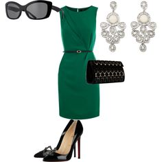 Green and black, created by eposthuma on Polyvore