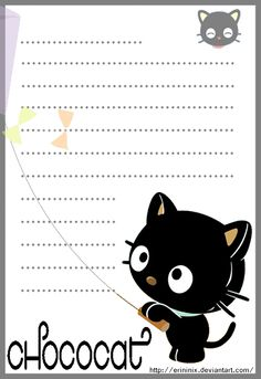 Chococat Stationery by eRininix on deviantART