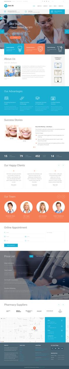 Dent-All is the only WordPress theme you need for Dental practice business. Dent-All has everything You need for a successful #website of your clinic, hospital or for a personal #dentist' website download now➯ http://themeforest.net/item/dentall-dental-practice-wordpress-theme/13065248?ref=Datasata
