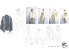 Fashion Sketchbook - jacket development with drawings & experimental draping - Burberry project; fashion design portfolio // Laura Helen Searle