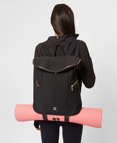 This multi-sport backpack is designed to take you from barre to bar without a problem. Lightweight scuba style fabric is filled with essential pockets to keep kit and valuables separate.