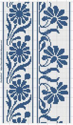 Cross Stitch Tree, Cross Stitch Bookmarks, Cross Stitch Borders, Cross Stitch Flowers, Cross Stitch Designs, Cross Stitching, Cross Stitch Embroidery, Filet Crochet, Crochet Chart