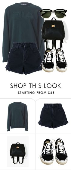"""Untitled #6304"" by laurenmboot ❤ liked on Polyvore featuring Fila, Nobody Denim, Vans and Ray-Ban"