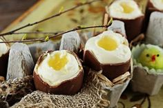 Chocolate eggs with a mousse filling
