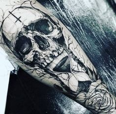 This tattoo is a bit frightening. Some tough guy sure is its owner. Let your tattoo be your trademark, and represents you. You alone choose the image that will tattooed on your body without the influence of other people, but of course in cooperation with the tattoo master.