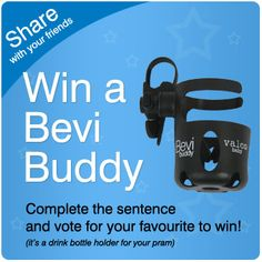 Win a Valco Baby Bevi Buddy! Competition starts now! Bottle Holders, Drink Bottles, Sentences, Competition, Baby, Frases, Baby Humor, Infant, Babies