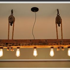 Reclaimed wood light fixture