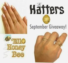 'Ello Honey Bee gives away some cute rings from the Hatters, repin to enter! The follow ellohoneybee.com Cute Rings, Giveaways, Gold Rings, Bee, Honey, Honey Bees, Bees