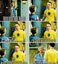 """""""Yeah, I kind of wanna do it again"""" - Penny and Sheldon #TheBigBangTheory"""