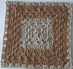 Pretty Crochet Square - Free Pattern