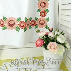 Machine Embroidery Design Russian Folk border