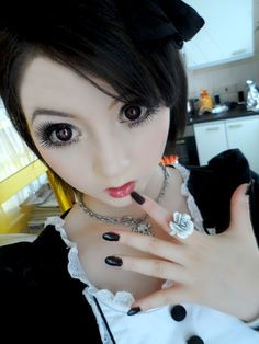 Geo mimi cappuccino red circle lenses reviews by Venus Angelic