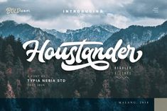 Houstander Font Duo by Typia Nesia on @creativemarket