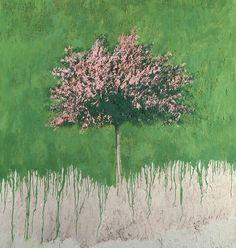 Carlo Mattioli - Paesaggio, 1980, olio su tela, 150x120 cm, collezione privata