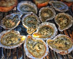 """66 Likes, 4 Comments - Julie Madden (@girl_meets_grill) on Instagram: """"Lately I've been on a serious oyster kick, and my favorite way to prepare them is grilled on the…"""""""