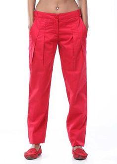 Shop for Femella Women Cropped Pants, Parachute Pants, Pajama Pants, Pajamas, Red, Clothes, Shopping, Women, Fashion