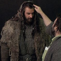 BTS Thorin ~ I thought Peter was touching his head at first