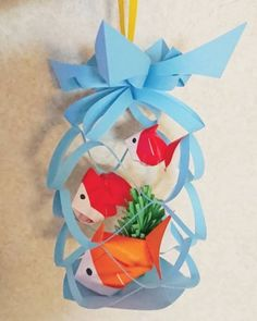 Chinese New Year Decorations, New Years Decorations, Diy And Crafts, Crafts For Kids, Paper Crafts, Star Festival, Pop Up Card Templates, Tanabata, Origami Easy