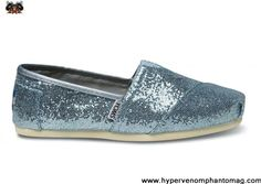 Blue Womens Glitters Toms Shoes Latest Now