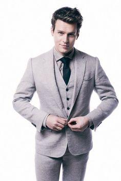 Grey Wool Three-Piece Suit