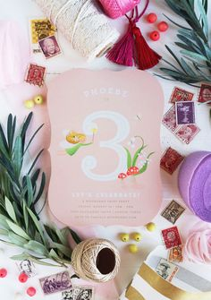 Phoebe's Woodland Fairy themed 3rd Birthday with Minted | Camille Styles