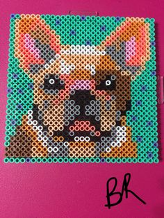 French Bulldog perler beads  by BreAnda Robbins